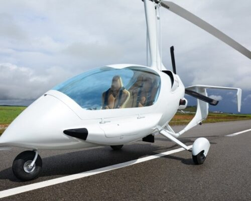 Gyroplane Flying