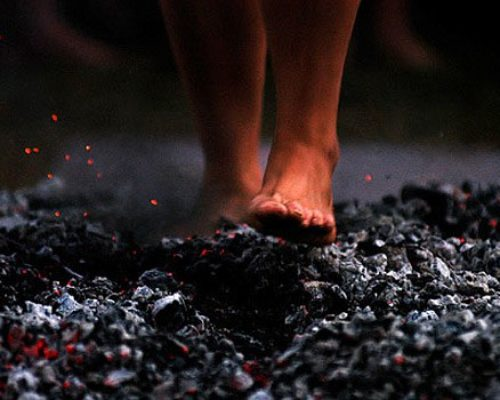 Stag Party Firewalking